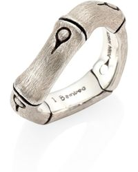 John Hardy - Bamboo Brushed Sterling Silver Curved Band Ring - Lyst