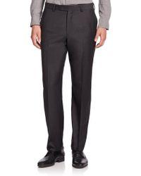 Saks Fifth Avenue | Wool Flat-front Pants | Lyst