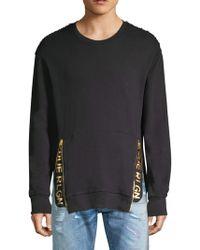 True Religion - Zip Logo Pullover - Lyst
