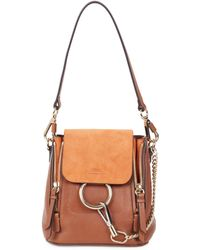 Chloé - Small Faye Leather & Suede Backpack - Lyst
