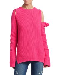c36a307279 Tre by Natalie Ratabesi - Women s Zip-off Sleeve Cashmere Sweater - Pink  Candy -