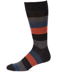 Saks Fifth Avenue - Collection Rugby Multistripe Dress Socks - Lyst