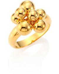 Marina B - Mini Atomo 18k Yellow Gold Ring - Lyst