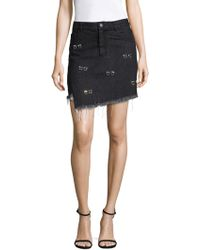 Sandy Liang - Embellished Crombie Cotton Skirt - Lyst