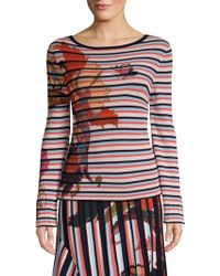 Etro - Floral Striped Knit Top - Lyst