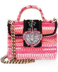 66619d8860 Kooreloo - Women s Divine Petite Embroidered   Woven Crossbody Bag - Pink -  Lyst