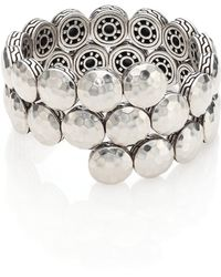 John Hardy - Dot Sterling Silver Disc Double Coil Bracelet - Lyst