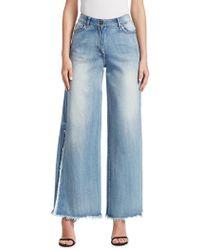 Johanna Ortiz - Wide Leg Denim Jeans - Lyst