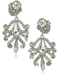 ABS By Allen Schwartz - Set In Stone Crystal Chandelier Earrings - Lyst