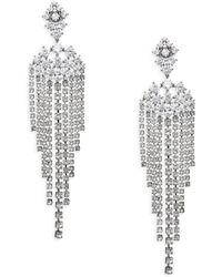 Adriana Orsini - Leia Swarovski Crystal Chandelier Drop Earrings - Lyst