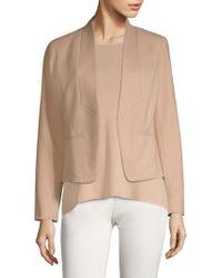 Eileen Fisher - Draped Open Front Jacket - Lyst