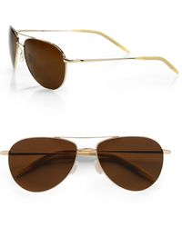 Oliver Peoples - Benedict 59mm Aviator Sunglasses - Lyst