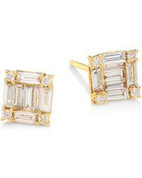 SHAY - Sticks & Stones Diamond & 18k Yellow Gold Square Stud Earrings - Lyst