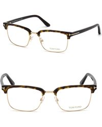 568a5c4719e Lyst - Tom Ford Square Metal Optical Frames in Metallic for Men
