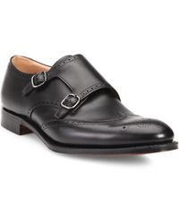 Church's | Leather Brogue Double Monk Strap Shoes | Lyst