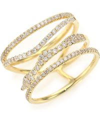 Meira T - Diamond & 14k Yellow Gold Multi-band Ring - Lyst