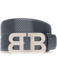 Bally - Chequered Leather Belt - Lyst