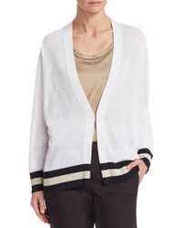 Brunello Cucinelli - Striped Cotton Cardigan - Lyst