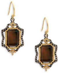 Armenta - Mother-of-pearl, Diamond, Quartz And 18k Yellow Gold Drop Earrings - Lyst