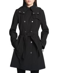 Calvin Klein - Classic Hooded Trench Coat - Lyst