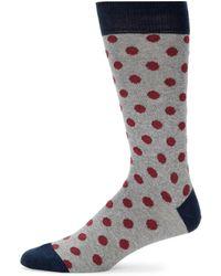 Saks Fifth Avenue - Dot Crew Socks - Lyst