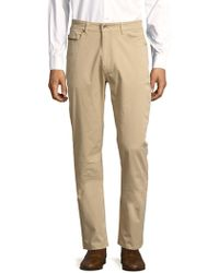 Robert Talbott - Solid Stretch-cotton Trousers - Lyst