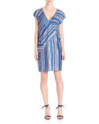 Tess Giberson - Pieced Stripe-print Cocoon Dress - Lyst