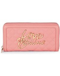 Love Moschino - Quilted Zip-around Wallet - Lyst