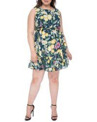Bobeau - Plus Amina Sleeveless Apron Dress - Lyst
