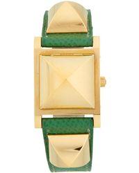 Hermès - Vintage Green/gold Epsom Watch - Lyst