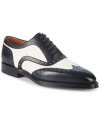 Bally - Schubert Wingtip Leather Oxfords - Lyst