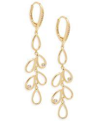 Saks Fifth Avenue | Crystal Goldplated Drop Earrings | Lyst