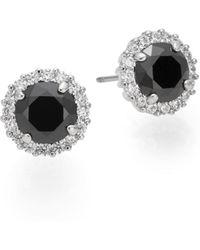 Saks Fifth Avenue - Halo Button Earrings - Lyst