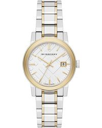 Burberry - City Two-tone Stainless Steel Bracelet Watch/34mm - Lyst