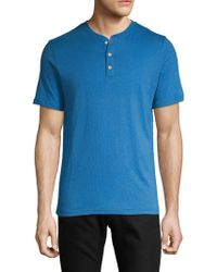 Surfside Supply - Linen Blend Short-sleeve Henley - Lyst