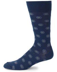 Saks Fifth Avenue - Medallion-print Crew Socks - Lyst