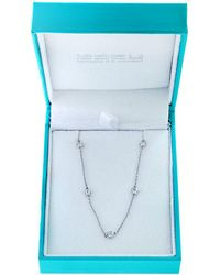 Effy - Diamonds & 14k White Gold Chain Necklace - Lyst