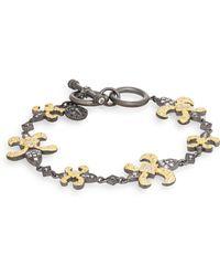 Freida Rothman | Fleur De Lis Station Toggle Bracelet | Lyst