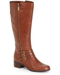 Bandolino - Carson Tripple-strap Leather Boots - Lyst