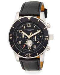 Saks Fifth Avenue - Stainless Steel & Leather Automatic Chronograph Watch - Lyst