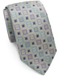 XMI Platinum - Geometric Silk Tie - Lyst