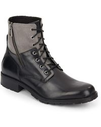Marc New York - Vesey Leather & Canvas Boots - Lyst
