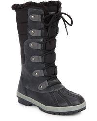 Khombu - Cami Faux Fur-trimmed Boots - Lyst