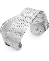 Punch - Textured Twist Cuff Bracelet/silvertone - Lyst