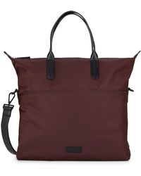 Uri Minkoff - Leather-trimmed Nylo Tote - Lyst