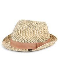 Block Headwear - Tonal Braided Straw Fedora - Lyst