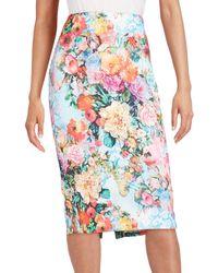Eci - Floral Midi Skirt - Lyst