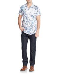 Calvin Klein Jeans - Botanical-print Cotton Short Sleeve Shirt - Lyst