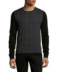 Strellson - Plaid Wool Sweater - Lyst