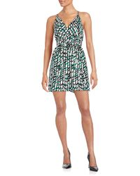 19 Cooper - Printed Crisscross-strap Dress - Lyst